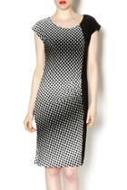 Geometric Dot Print Dress