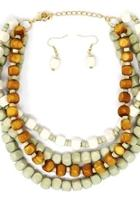 Wood Bead Necklace Set