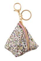 Chunky Glitter Triangle Pouch Bag Charm