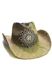 Rhinestone Flower Cowgirl-hat