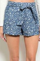 Printed Cropped Shorts