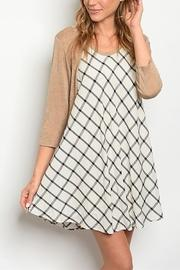 Checker Swing Dress