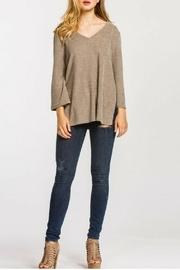 Brush-knit Wide Sleeve