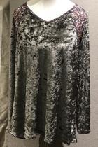 Crushed Velvet & Blouse Tunic