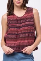 Sleeveless Crochet Detail Top