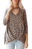 Leopard Mock Top