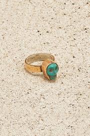 Copper Turquoise-skull Ring