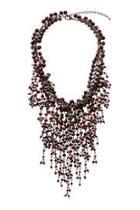 Wine Beaded Necklace