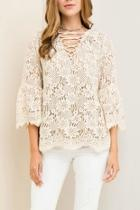 Solid Lace Top