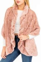 Faux-fur Ruffly-scarf