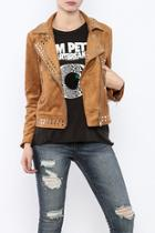Faux Suede Studded Jacket
