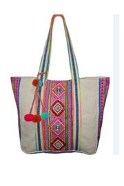 Aztec Beaded Multi Jacquard Bag