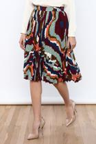 Geometric Printed Skirt