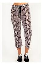 Snakeskin Print Sweatpants
