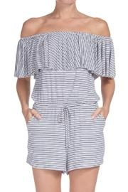 Stripe Off-the-shoulder Romper