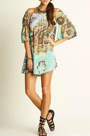 Printed Bell-sleeve Dress