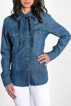 Denim Bow Shirt