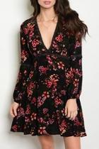 Vneck Floral Dress