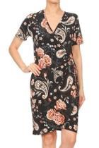 Paisley Faux-wrap Dress