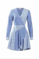 Helaine Stripe Wrap-dress