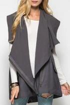 Zipper Hooded Vest