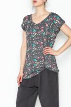 Twisted Rolled Sleeve Top