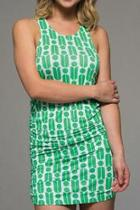 Printed Rouched Dress