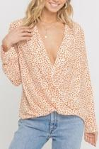 Tangerine Dotted Top