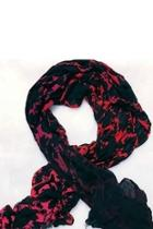 Silhouette Floral Scarf