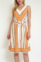 Stripe Dress Whitbelt