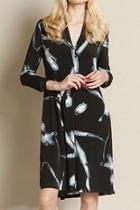 Printed Vneck Dress