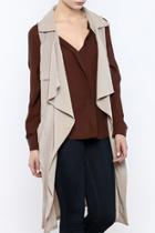 Taupe Trench Vest