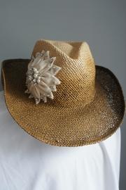 Embellished Flower Cowgirl-hat