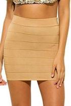 Knit Banded Mini Skirt