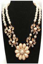 Faux-pearl Statement Necklace