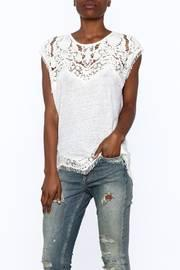 White Scalloped Lace Top