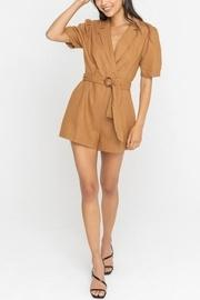Wrap-style Belted Romper