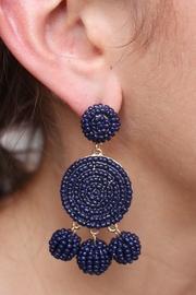 Navy Eliano Earrings