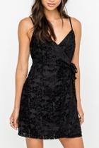 Black Velvet Wrap-dress