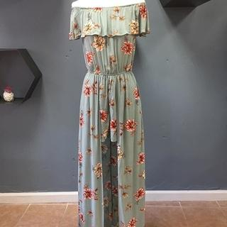 Off The Shoulder Maxi Romper