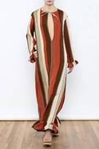 Ruffle Striped Maxi Dress