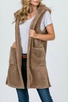 Furry Hoodie Vest