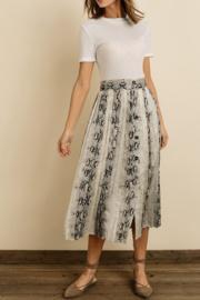 Snakeskin Pleated Mini Skirt