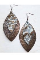 Leather Earrings Oval