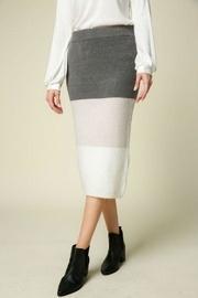 Knit Colorblock Skirt