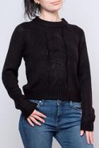 Cropped Cableknit Sweater