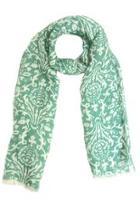 Green Silk Linen Scarf