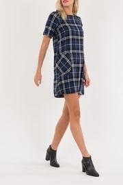 Navy Plaid Mini-dress