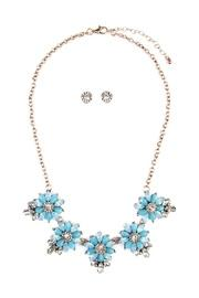 Floral-statement-necklace & Earring-set