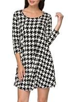 Houndstooth Tunic